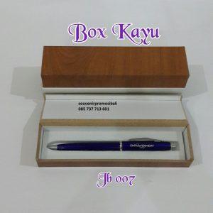 Pulpen Box Kayu JB 007 Souvenir Promosi Bali
